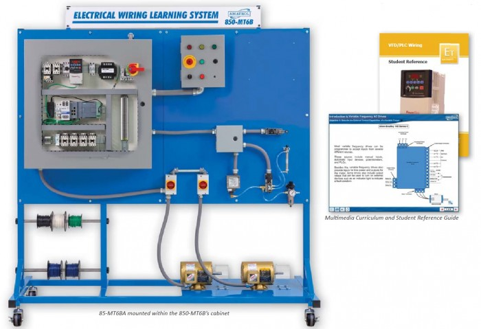 VFD/PLC Wiring Learning System (85-MT6BA)