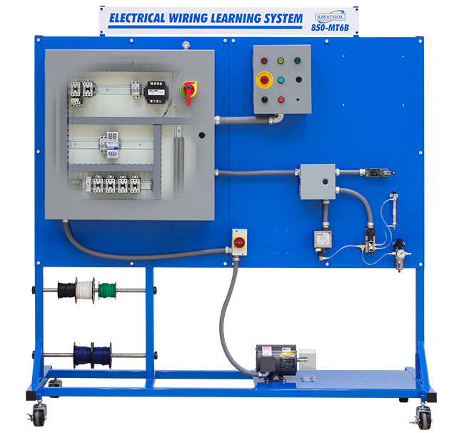 amatrol vfd/plc wiring learning system 85-mt6ba | tech-labs learning electrical wiring