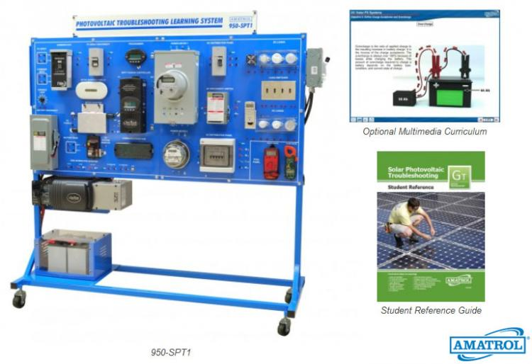 Amatrol Solar PV Troubleshooting Learning System