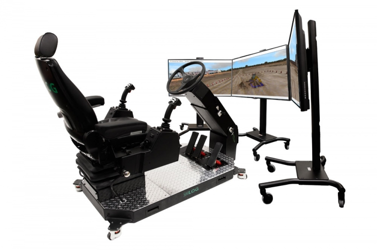 Backhoe Loader Personal Simulator Display Options