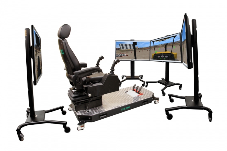 Bulldozer Simulator Example Set-Up with Operator Chair