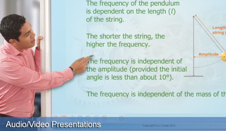Interactive presentations provide both whole-class teaching and individual study