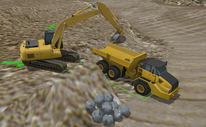 Hydraulic Excavator Personal Simulator Tech Labs