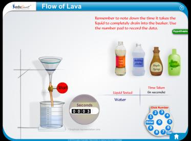 Edusmart simulation on lava flow.