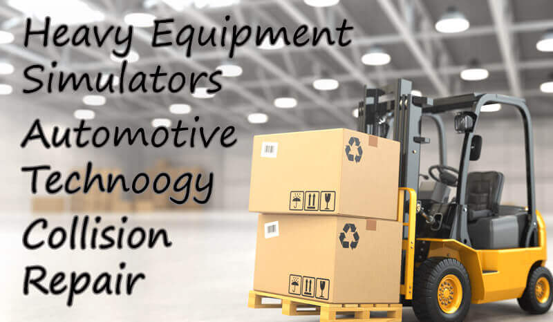 Heavy Equipment Simulation, Collision Repair & Automotive Technology